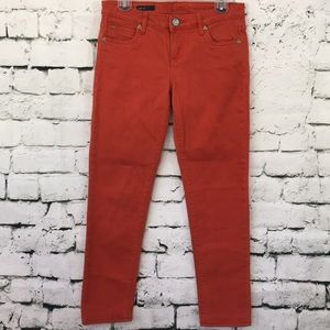 Kut from the Kloth rust color jeans
